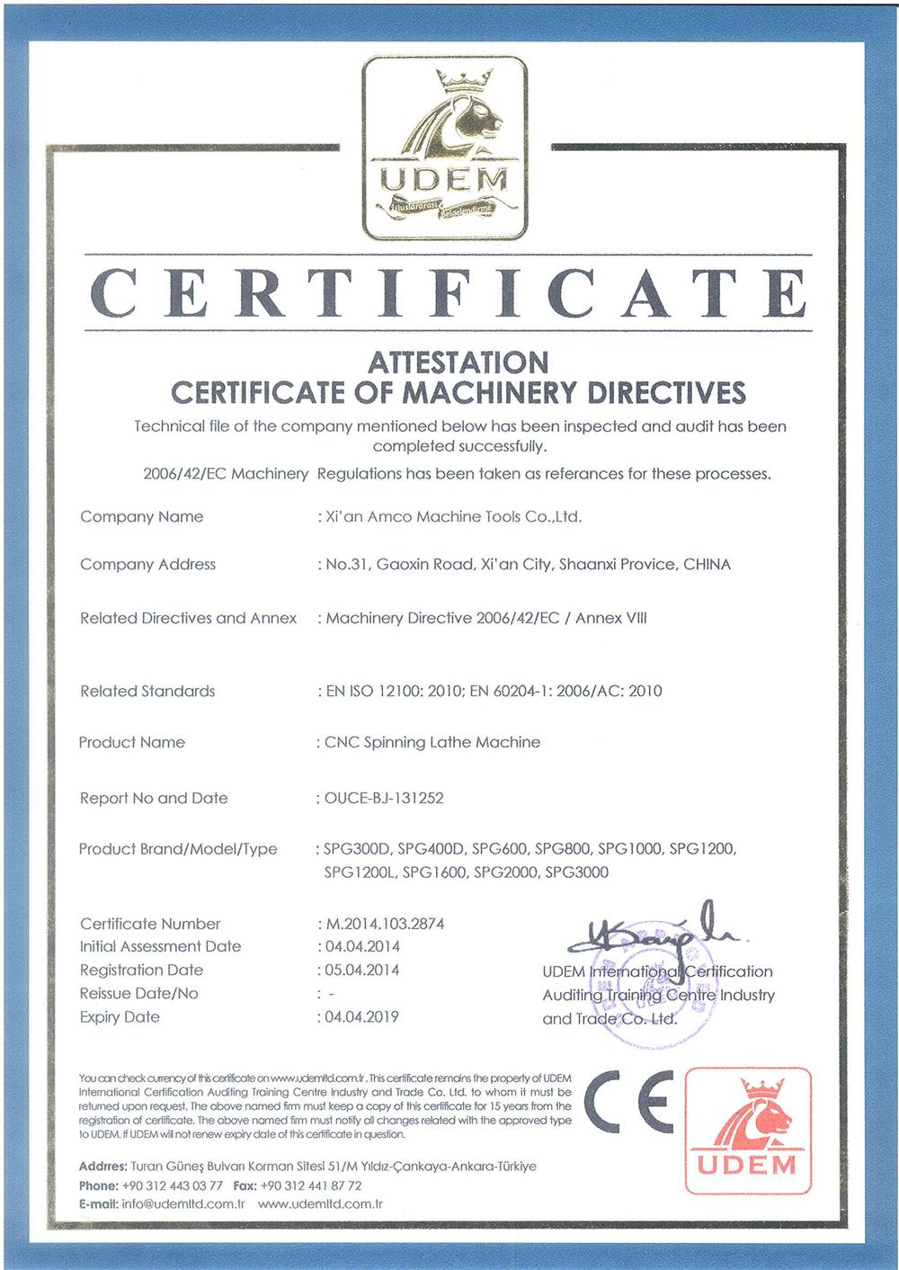 Certificate of machinery directives honner xian amco machine certificate of machinery directives 1betcityfo Gallery