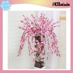 Artificial Flower Plant Peach Blossom Branches