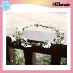 Wedding Artificial Flower Headband Bridal Wreath